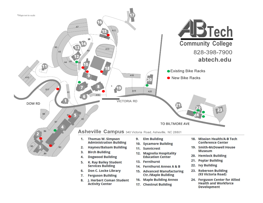where to park bikes at A-B Tech