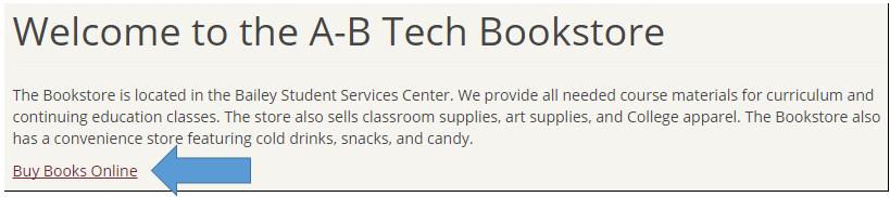 Bookstore webpage