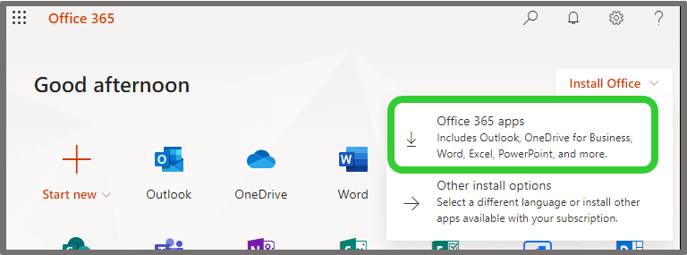 Office 365 Apps Install