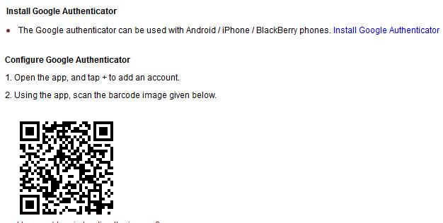 Google Authenticator QR Code
