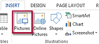 Image under Illustrations group under Insert tab